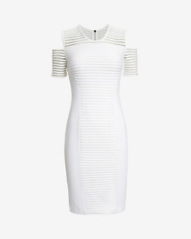 Yigal Azrouel Sleeveless Mesh Cutout Dress