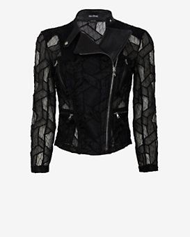 Yigal Azrouel Lace Moto Jacket