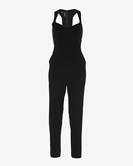 Yigal Azrouel EXCLUSIVE Open Back Crepe Jumper: Black