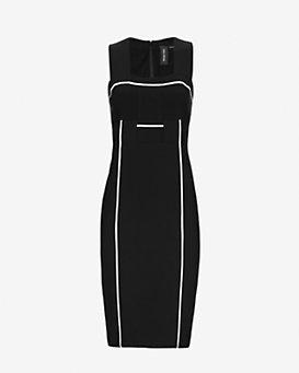 Yigal Azrouel Contrast Piping Tank Dress