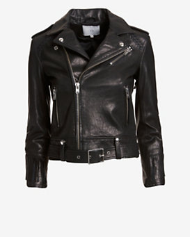 IRO Fringe Leather Jacket: Black