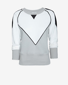 IRO Leather Trim Sweatshirt