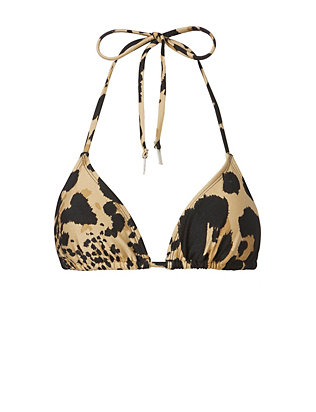 Zimmermann Animal Print Triangle Bikini Top