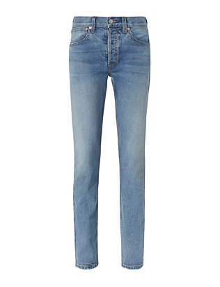 Light Denim Straight Jeans
