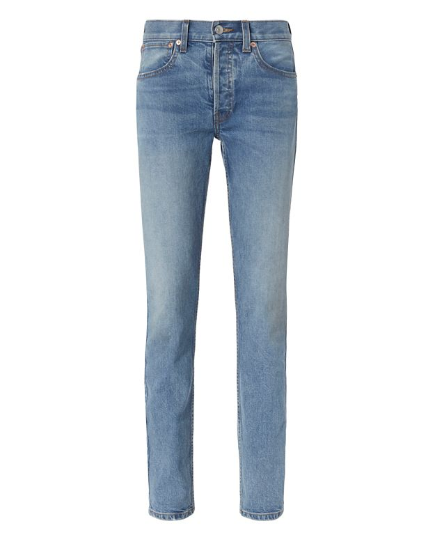 Re/Done Light Denim Straight Jeans