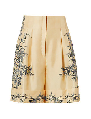 Silk Floral Shorts