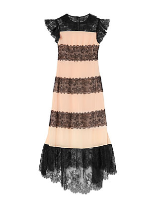 Philosophy Di Lorenzo Serafini Lace Dress: Pink/Black