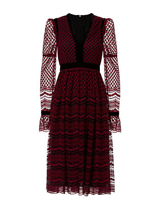 Philosophy Di Lorenzo Serafini Lace V Neck Dress