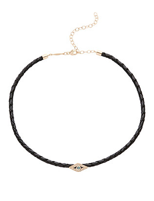Bolo Leather Pavé Eye Choker