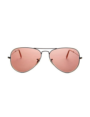 Red Mirrored Lenses Aviator Sunglasses