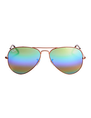 Rainbow Lenses Aviator Sunglasses