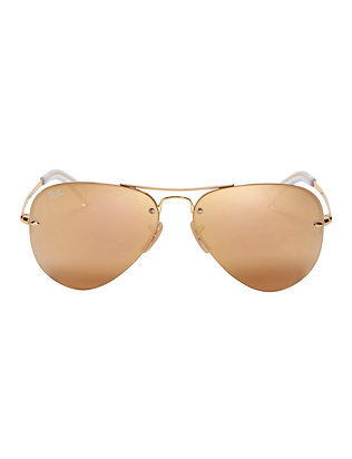 Ray-Ban Rimless Metallic Aviator Sunglasses