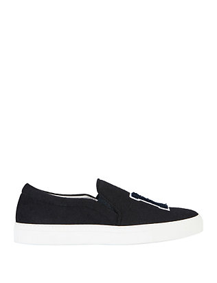 Joshua Sanders LA Slip On Felt Sneakers: Navy