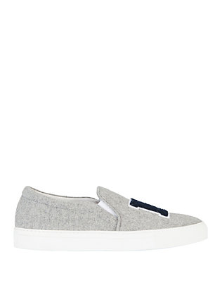 Joshua Sanders NY Slip On Felt Sneakers: Grey