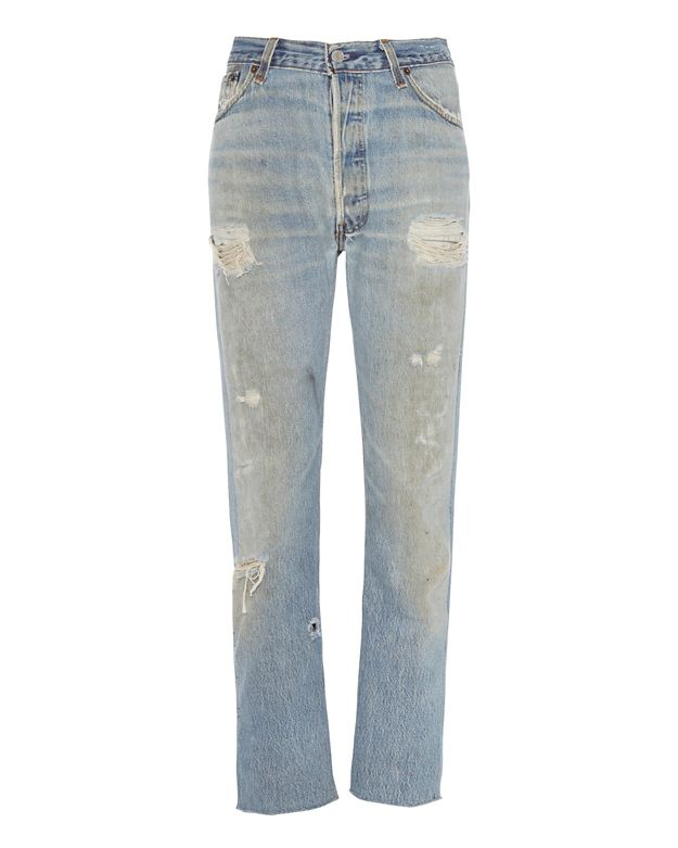 Re/Done Deconstructed Relaxed Crop Jeans