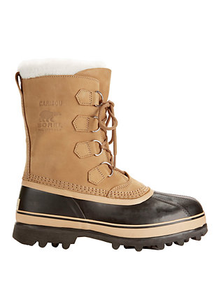 Caribou Lace-Up Suede Snow Boots