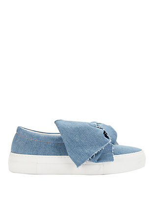 Joshua Sanders Bow Knot Detail Slip On Denim Sneakers