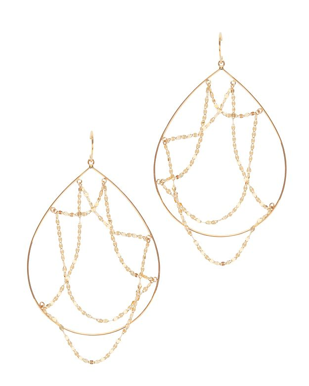 Lana Jewelry Oval Web Hoop Earrings