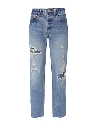Re/Done Relaxed Destroyed High-Rise Jeans