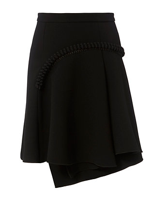 Carven High Waisted Wrap Skirt