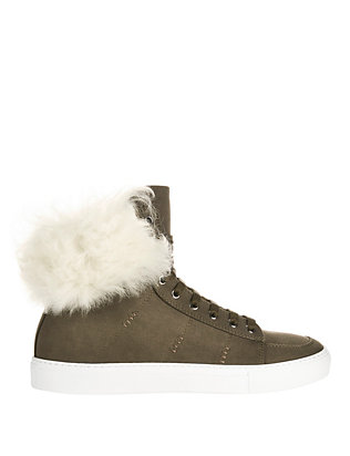 Shearling Lamb Canvas Sneakers