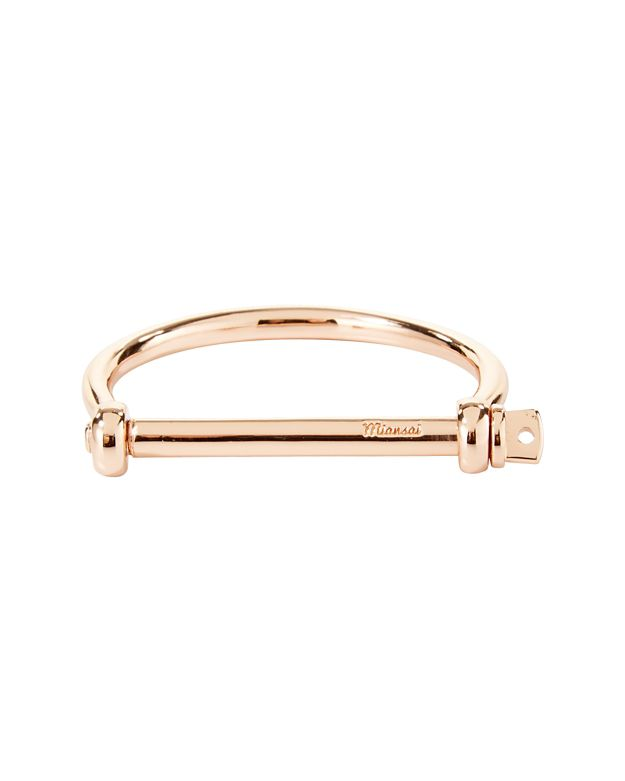 Miansai Screw Cuff Bracelet: Rosegold