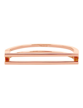 Miansai Square Bar Cuff: Rose Gold