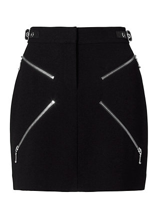 Alexander Wang X Zipper Detail Mini Skirt