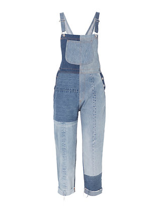 Re/Done Seamed Denim Overalls