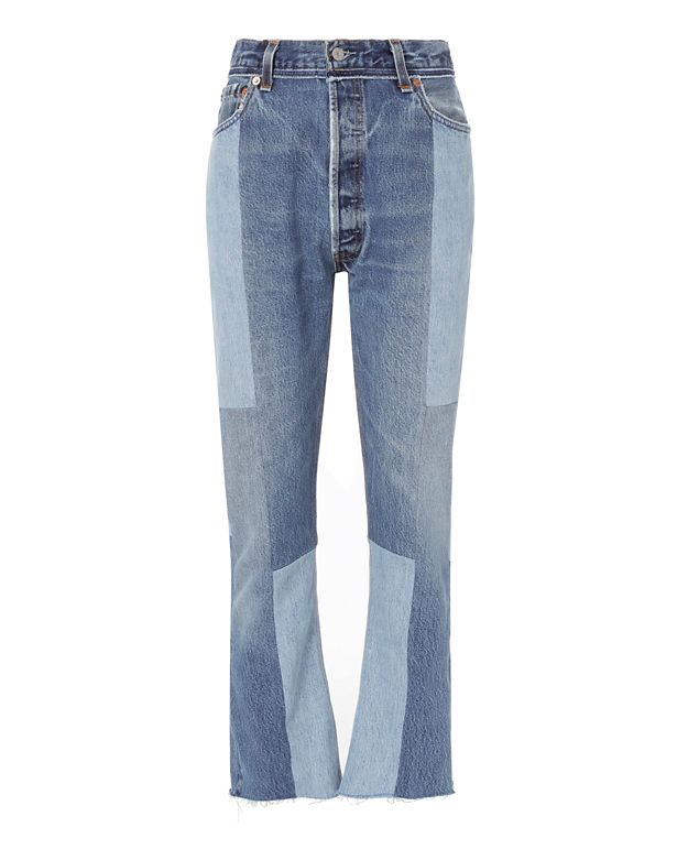 Re/Done Seamed High-Rise Jeans