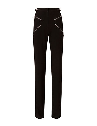 X Zipper Detail Boot Cut Trousers