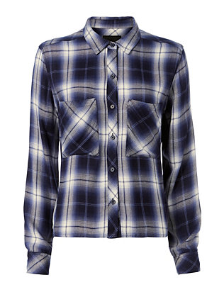 Dylan Cropped Plaid Shirt