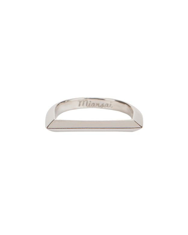 Miansai Bar Ring: Silver