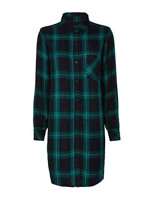 Bianca Plaid Shirt Dress