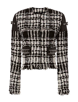 Alexander Wang Sleeve Cap Belt Tweed Jacket