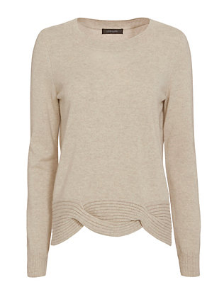 Christopher Fischer Cable Knit Hem Sweater
