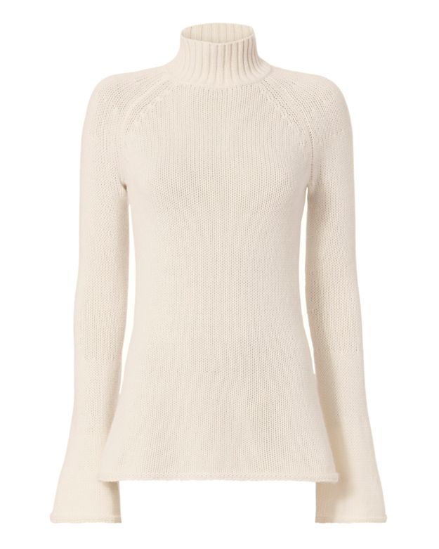 Christopher Fischer Cashmere Flared Sleeve Turtleneck