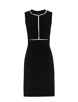 Alexander Wang Fishline Detail Fitted Sheath Dress: Black