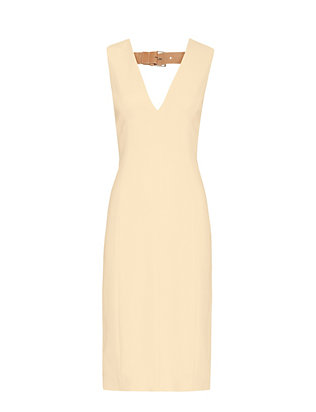 Alexander Wang Deep V Neck Pencil Fit Dress