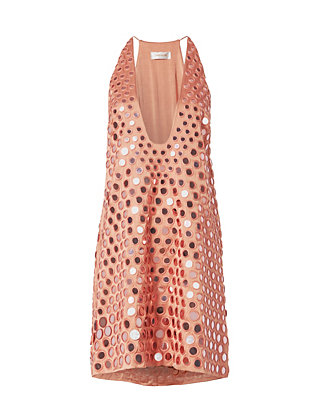 Embellished Mirror Shift Dress