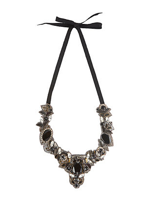 Ranjana Khan Embellished Self Tie Necklace