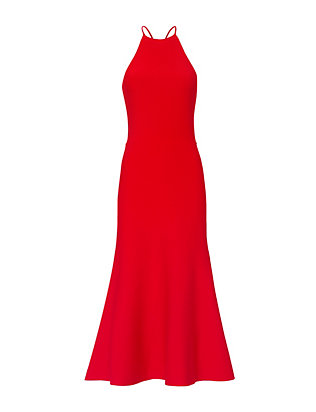 Alexander Wang Red Knit Halter Dress