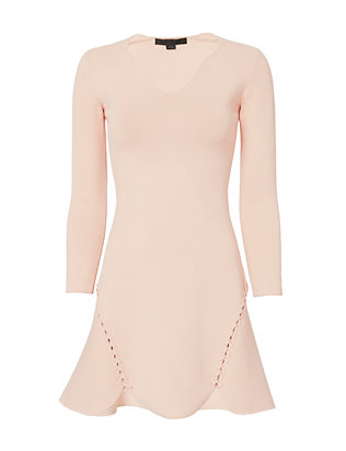 Alexander Wang Knit Flare Lacing Dress