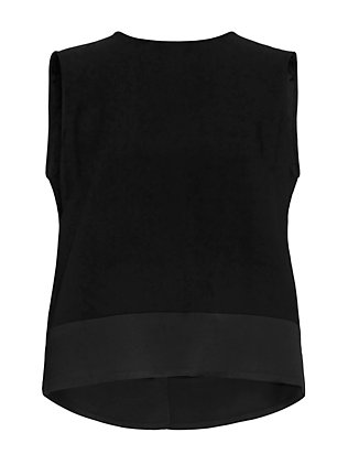 Adam Lippes Ruffle Open Back Sheel: Black