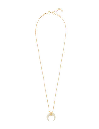 Jacquie Aiche Mini Double Horn Pavé Diamond Necklace