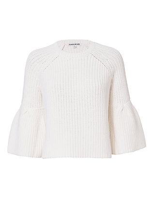 Elizabeth and James Carolina Flutter Sleeve Crop Sweater