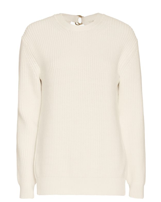 Alexander Wang Split Back Pullover: White