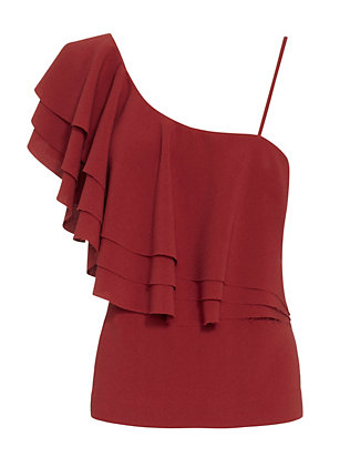 Designers Remix CHARLOTTE ESKILDSEN Wake Single Shoulder Flare Top