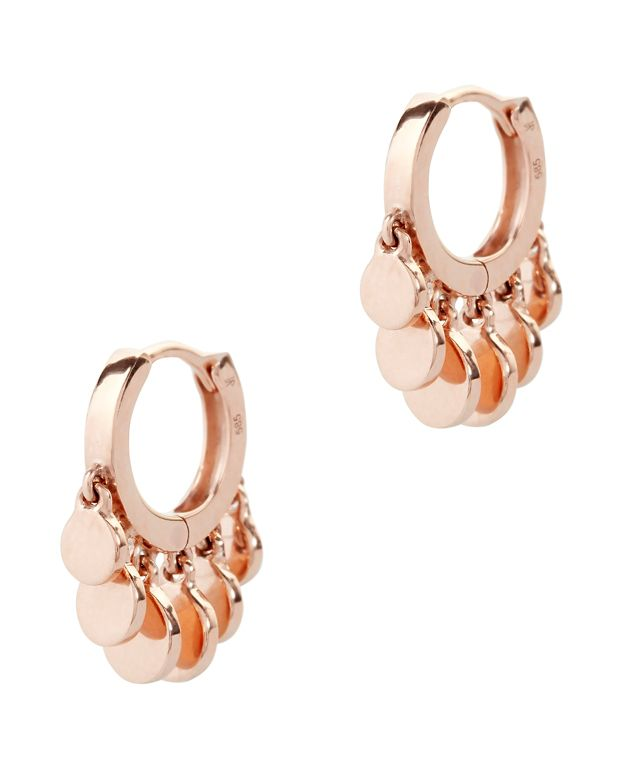 Jacquie Aiche Disc Shaker Mini Hoop Earrings