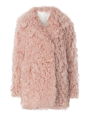 A.L.C. Curly Hair Shearling Lamb Coat